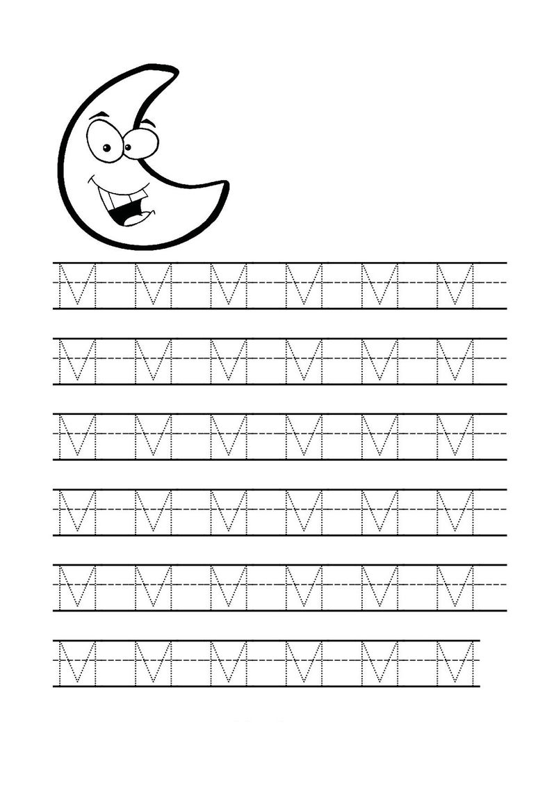 Letter M Worksheets Tracing