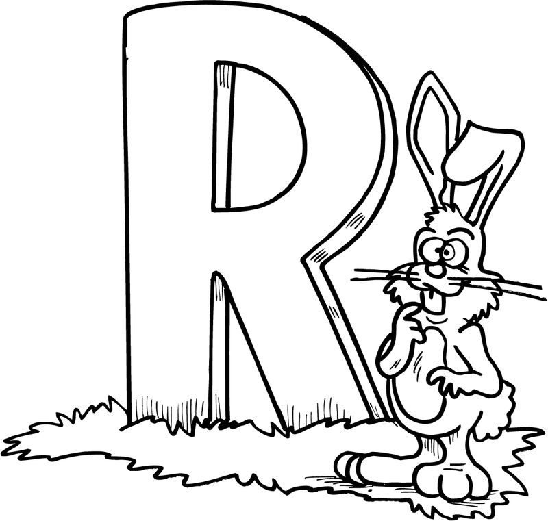Letter R Kindergarten Coloring Pages
