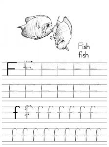 Letter tracer pages fish 001