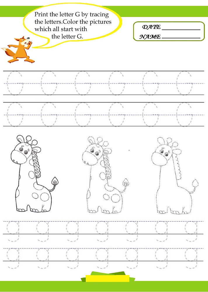Letter Tracer Pages Giraffe 001