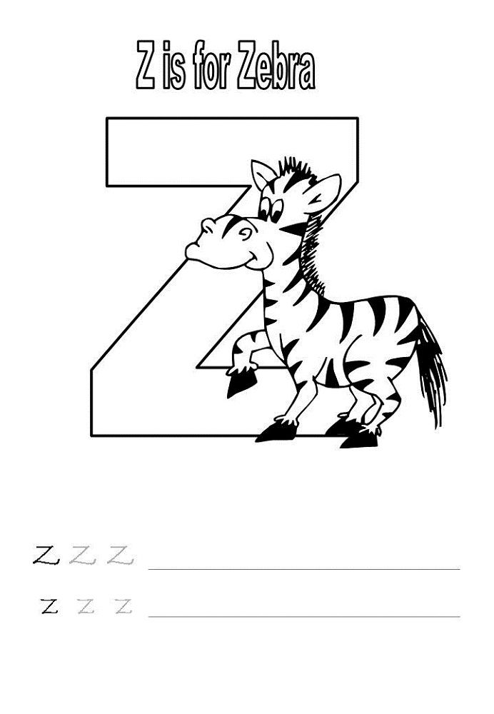 Letter Z Worksheet For Kids