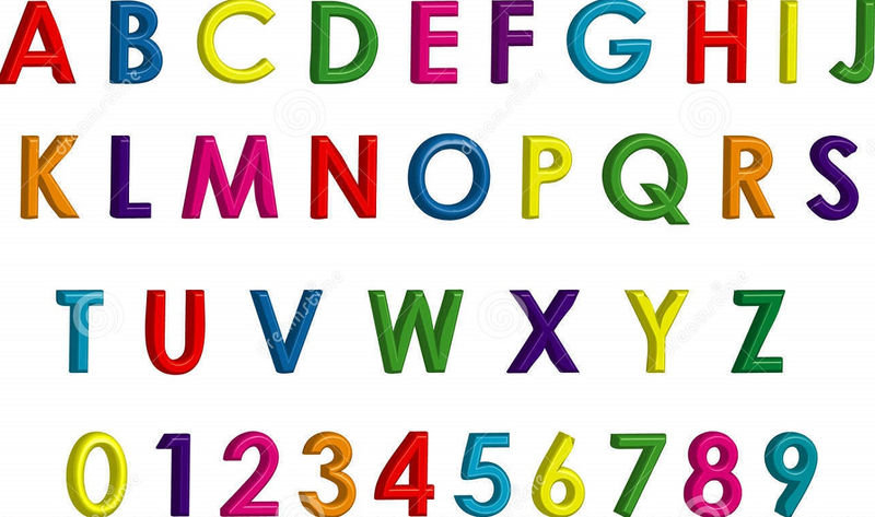 Letters And Numbers For Kids Formation
