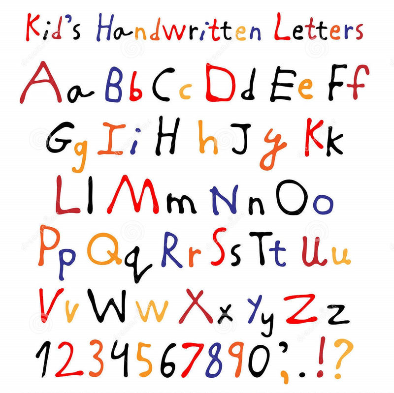 Letters And Numbers For Kids Handwritten