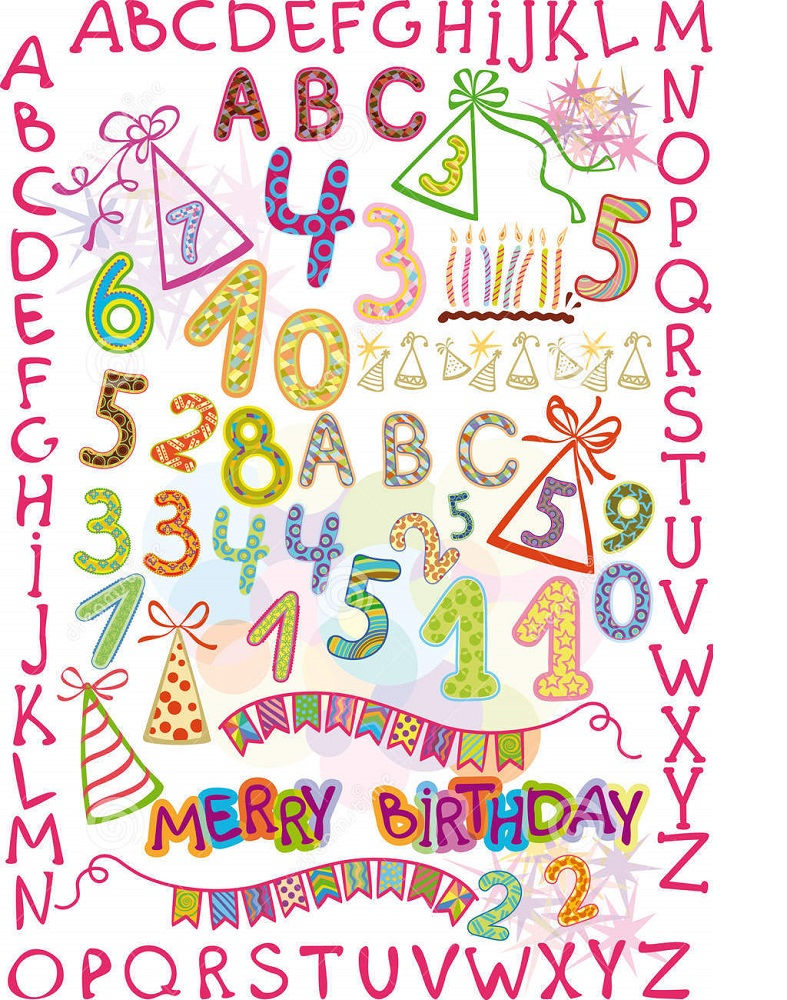 Letters And Numbers For Kids Happy