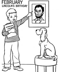 Lincolns birthday february coloring pages