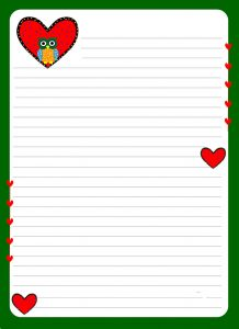Lined paper for kids border