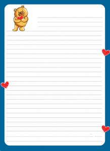 Lined paper for kids cute 1