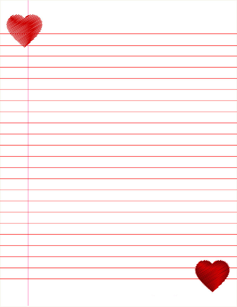 Lined Paper For Kids Cute