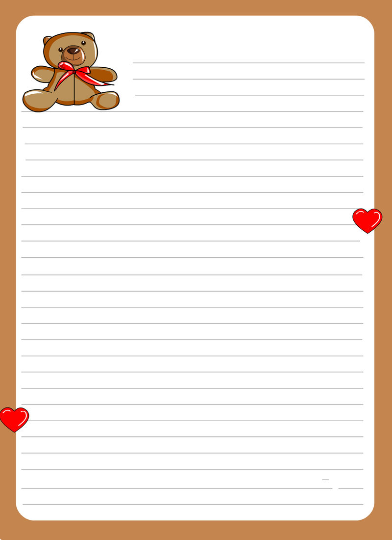 Lined Paper For Kids New