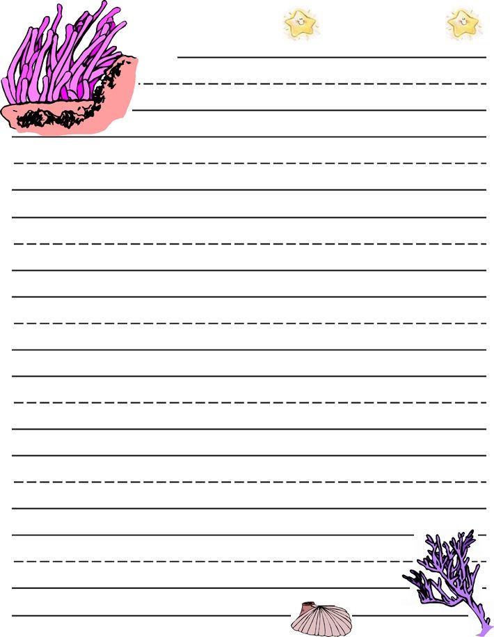 Lined Paper For Kids To Learn Writing 001