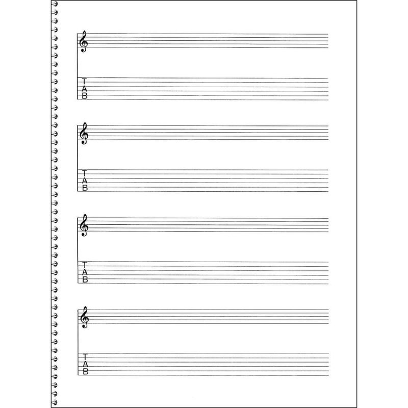Lined Paper For Writing Guitar