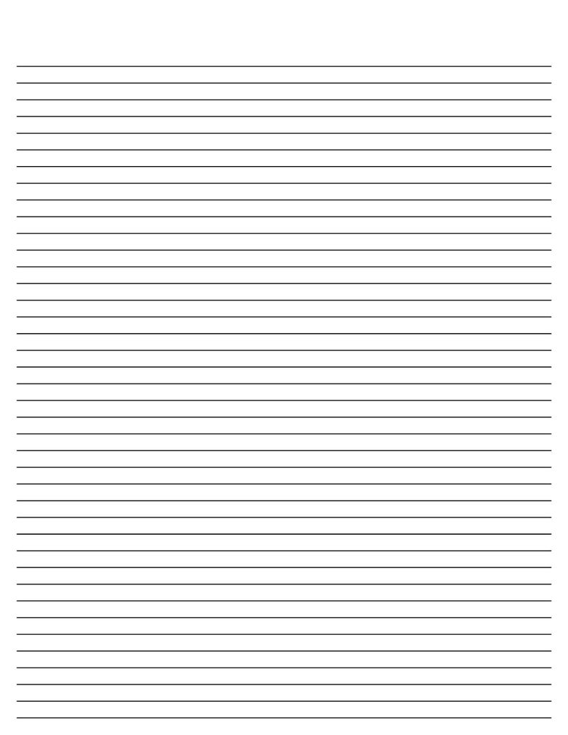 Lined Paper For Writing Small Line