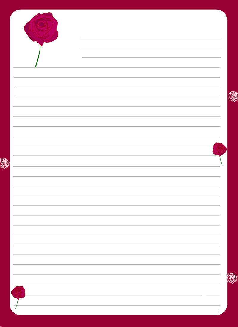 Lined Paper For Writing Valentine