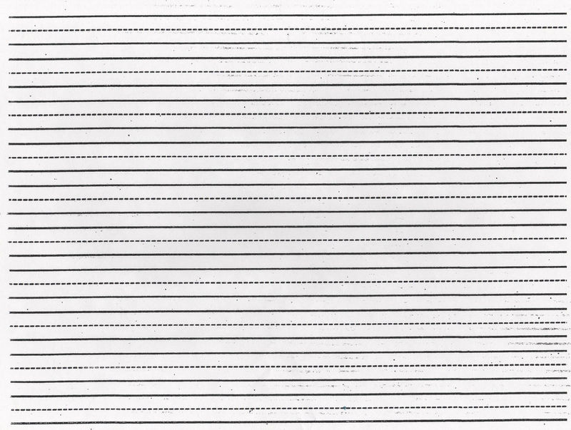 Lined Paper You Can Print Dotted 001