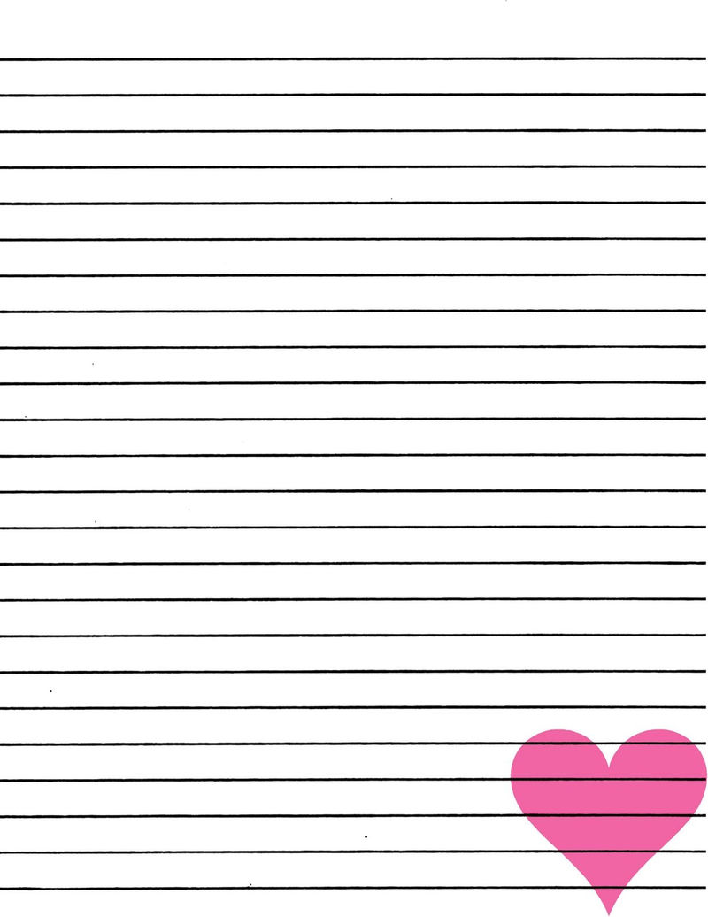 Lined Paper You Can Print Love 001
