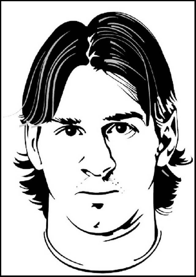 Lionel Messi Mask Soccer Coloring And Drawing Pages