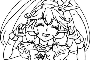 Little candy glitter force coloring page