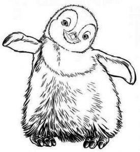 Little erik from happy feet coloring pages printable