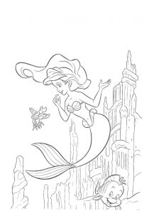 Little mermaid activities coloring