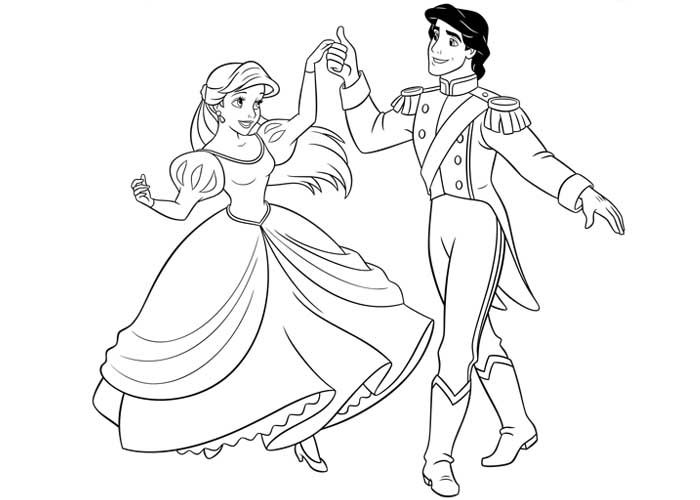 Little Mermaid Ariel And Eric Coloring Pages - Coloring Sheets
