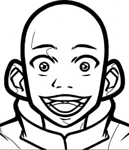 Ll how to draw aang easy tutorial drawing avatar aang coloring page