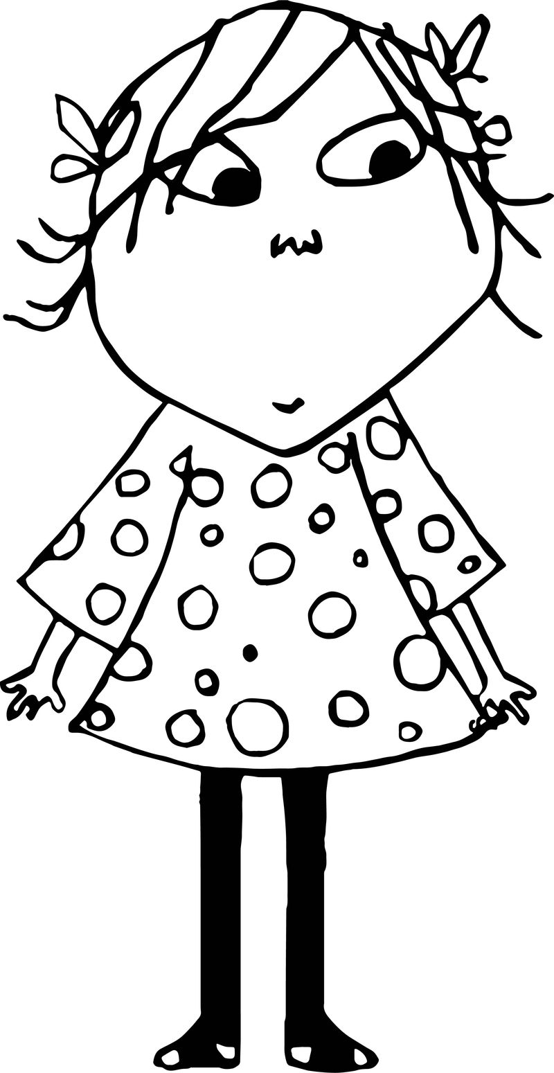 Lola Girl Coloring Page