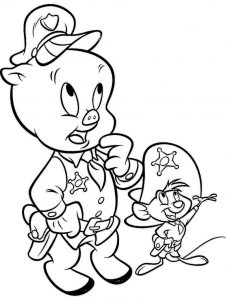 Looney tunes coloring sheet porky pig coloring page