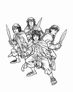 Lord of the rings coloring pages children