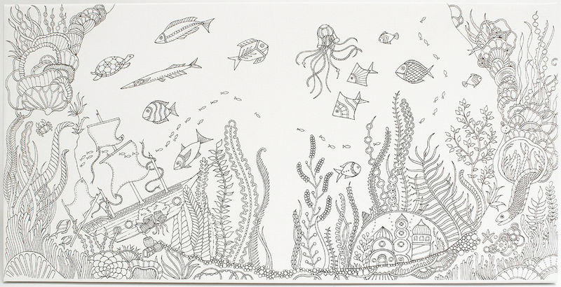 Lost Ocean Coloring Book For Adults