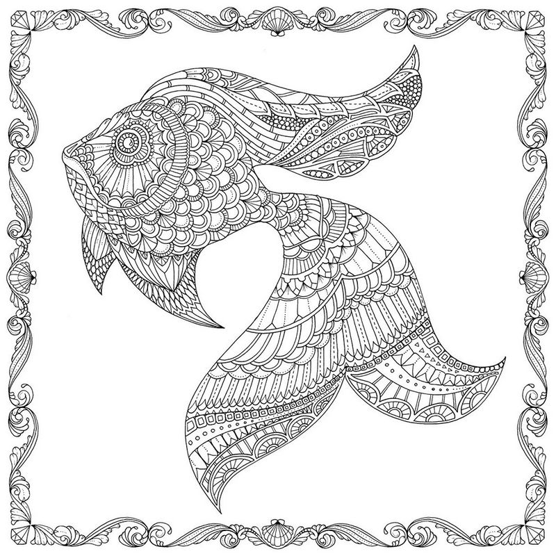 Lost Ocean Fish Coloring Sheet