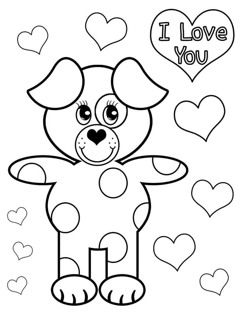 Love Coloring Pages For Children