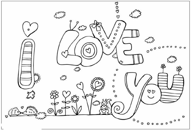 Love Coloring Pages For Kids 001