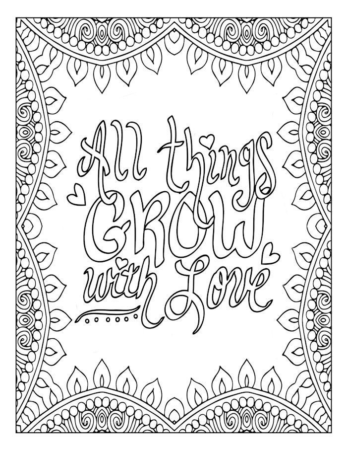 Love Quote Coloring Page