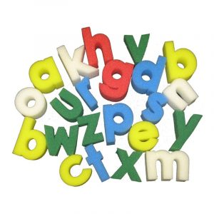 Lower case alphabet arranging