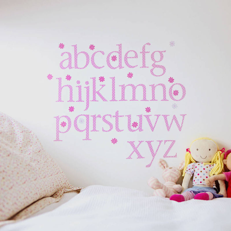 Lower Case Alphabet Wall Stickers