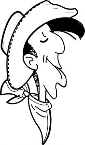 Lucky luck face coloring page