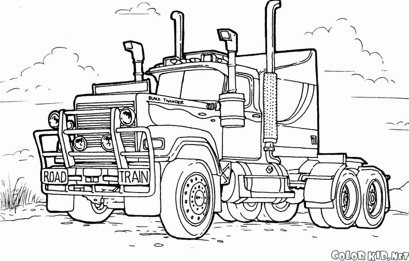 Mac Truck Coloring Pages