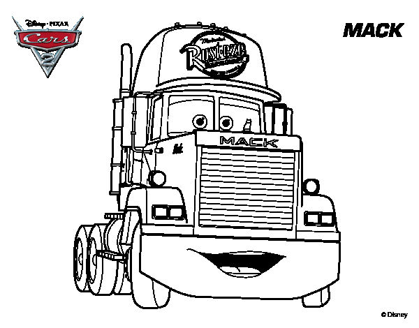 Mack Trucks Coloring Pages