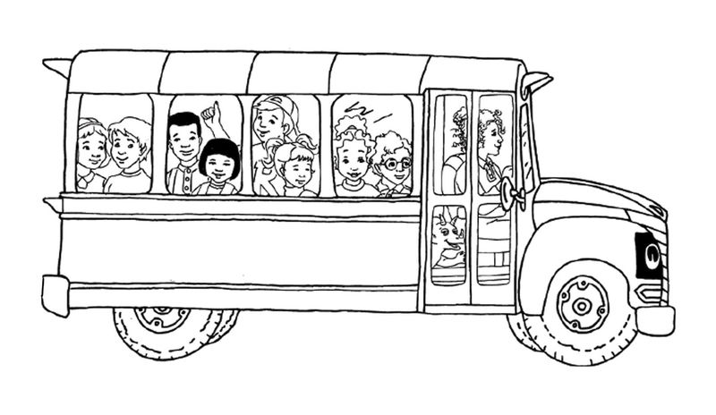 Magic School Bus Coloring Pages 001