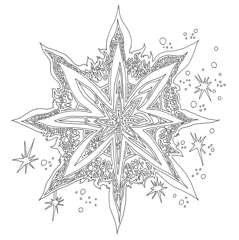Magical Christmas Star Coloring Book Lizzie Mary