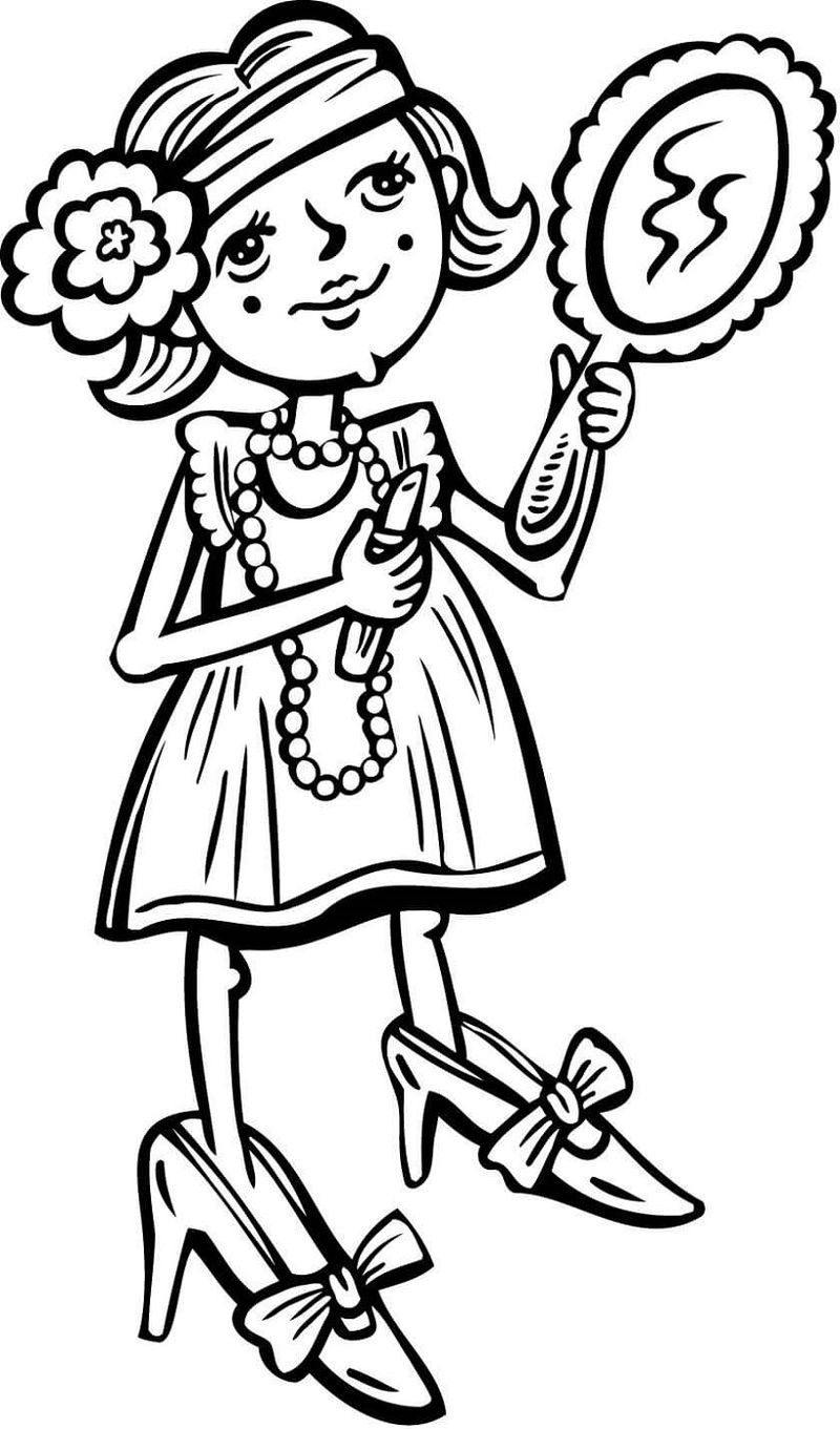 Makeup Coloring Pages Girls