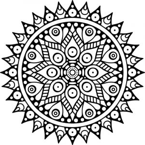 Mandala buddhism icon multicolored mandala coloring page
