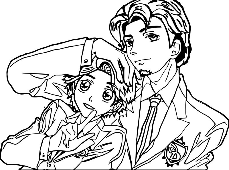 Manga Rapunzel And Flynn Completed Coloring Page