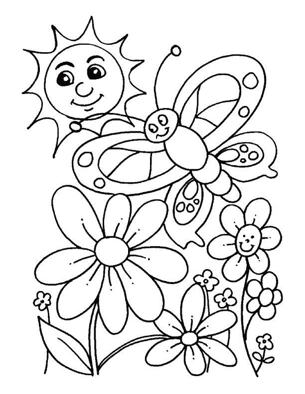 March Flowers Coloring Pages