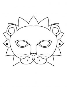 Mardi gras cutout mask worksheets