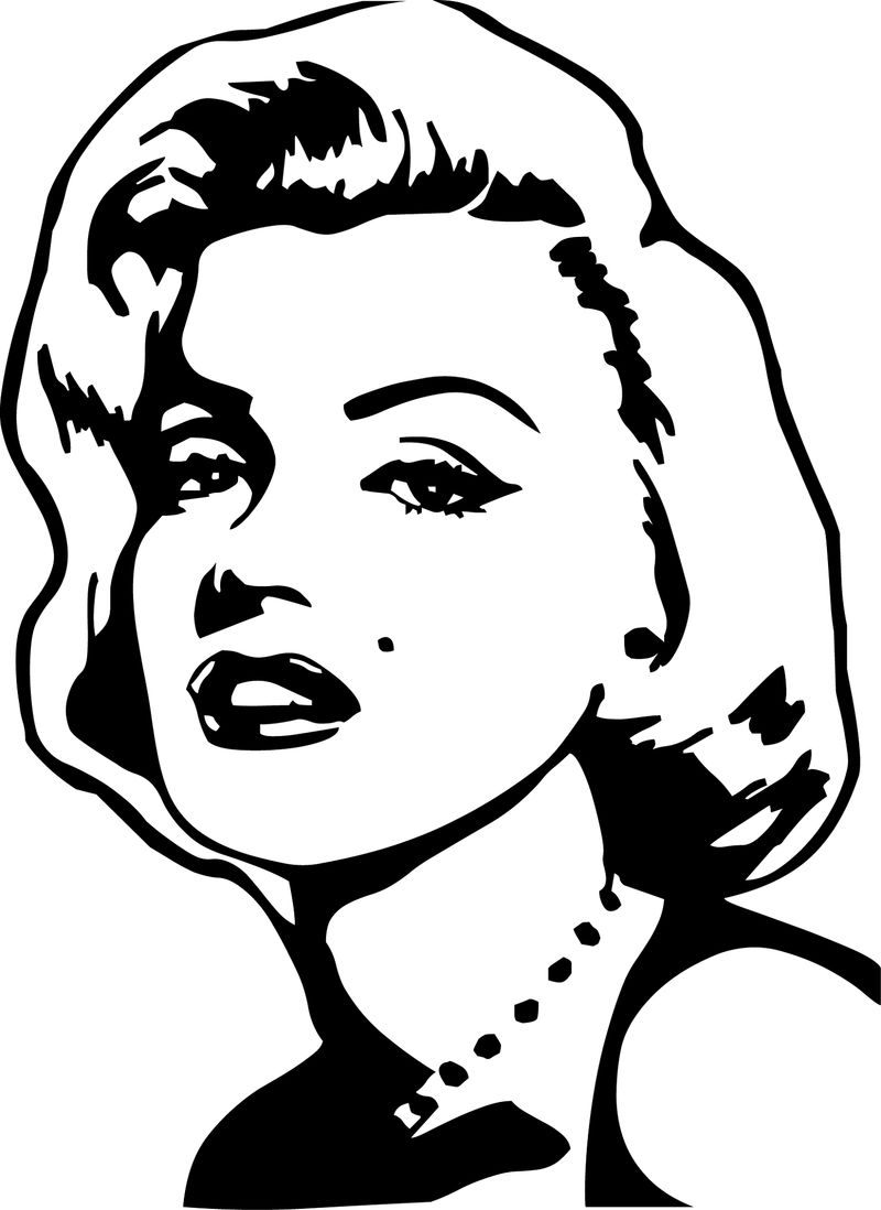 Marilyn Monroe Coloring Pages Easy