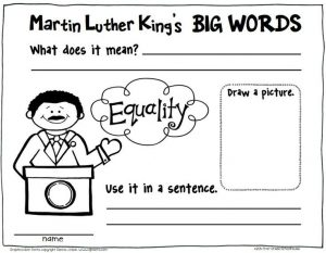 Martin luther king jr equality worksheet