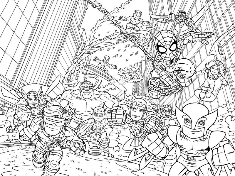 Marvel Coloring Pages 001