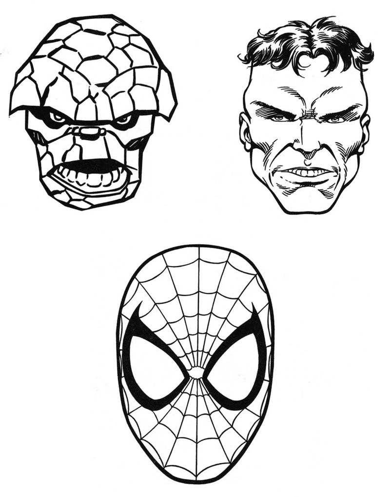 Marvel Coloring Pages Printable 001