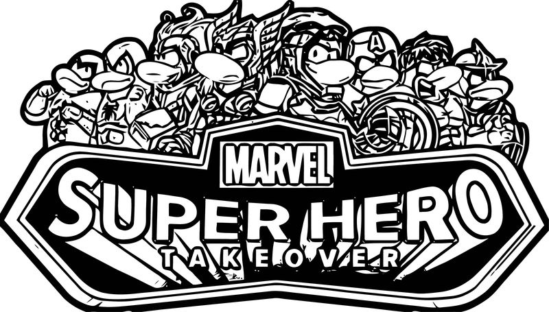 Marvel Party 2013 Logo Coloring Page